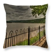 Riverside Walk Throw Pillow