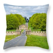 Road To Burghley House Throw Pillow
