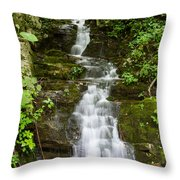 Roadside Waterfall Throw Pillow