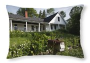 Robert Frost Homestead - Franconia New Hampshire Usa Throw Pillow