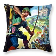 Robin Hood Throw Pillow by James Edwin McConnell