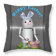 Robo-x9 The Easter Bunny Throw Pillow