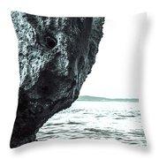 Rock-face Throw Pillow