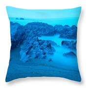 Rock Formations On The Coast, Central Throw Pillow