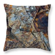 Rock Geometry Throw Pillow by Julian Perry