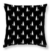 Rocket Scientist Wallpaper Throw Pillow