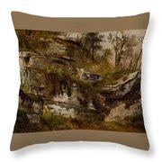 Rocky Cliff Throw Pillow