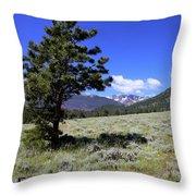 Rocky Mountain Foothills Throw Pillow