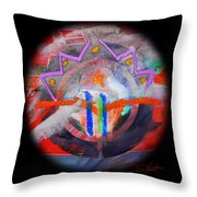 Rocky Mountain Pass Throw Pillow