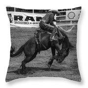 Rodeo Saddleback Riding 5 Throw Pillow