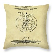 Rolex Watch Patent 1999 In Sepia Throw Pillow