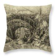Roman Bridge , Penmachno  Throw Pillow