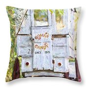 Roman Candy Throw Pillow by Scott Pellegrin