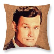 Ron Hayes, Vintage Actor Throw Pillow