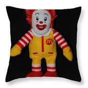 Ronald Mcdonald Throw Pillow