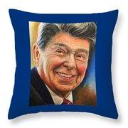 Ronald Reagan Portrait Throw Pillow