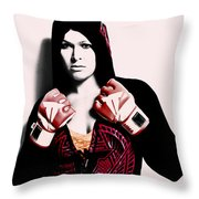 Ronda Rousey Here We Go  Throw Pillow