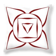 1 Root Chakra Throw Pillow