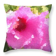 Rose Of Sharon In Abstract Throw Pillow