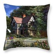 Roses House Throw Pillow