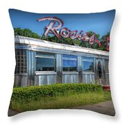 Rosie's Diner Throw Pillow