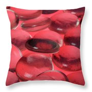 Round Glass Shapes Throw Pillow
