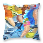 Rounding The Bend Throw Pillow