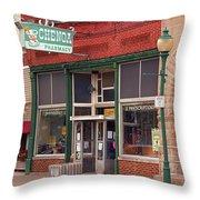 Route 66 - Chenoa Pharmacy Throw Pillow