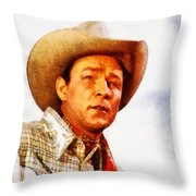 Roy Rogers, Vintage Western Legend Throw Pillow