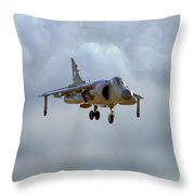 Royal Navy Sea Harrier. Throw Pillow