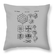 rubik's cube Patent 1983 Throw Pillow