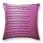 Rumi Love Throw Pillow