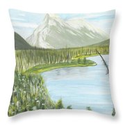 Rundle From Banff Throw Pillow