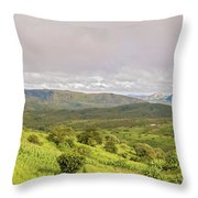 Rural Landscape In Malawi Throw Pillow