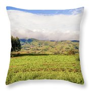 Rural Landscape Tanzania Throw Pillow