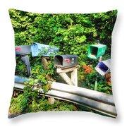 Rural Mailboxes  Throw Pillow