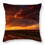 Rural Sunset Beauty Throw Pillow