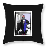 Russell Short Celebrating July 4th Tucson Medical Center 1990-2008 Throw Pillow