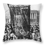 Russia: Revolution Of 1917 Throw Pillow