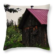 Rustic Homestead Throw Pillow