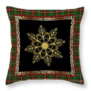 Rustic Snowflake-jp3695 Throw Pillow