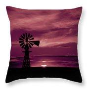 Rustic Sunset - Colorado Throw Pillow