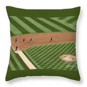 Safeco Field Abstract Patterns With Ground Crew Throw Pillow