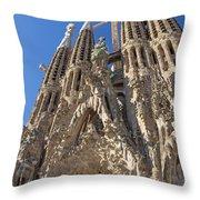 Sagrada Familia In Barcelona Throw Pillow