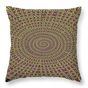 Saguaro Forest Abstract Throw Pillow