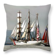 Eagle And Roseway Throw Pillow