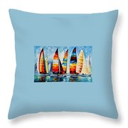 Sail Regatta Throw Pillow