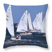 Sailboat Championship Racing Throw Pillow
