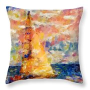 Sailing In The Sea Throw Pillow