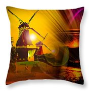 Sailing Romance Windmills Throw Pillow